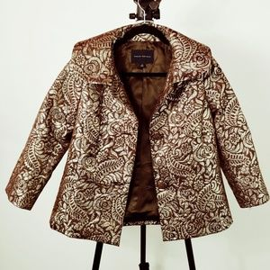 Banana Republic gold embroidered coat